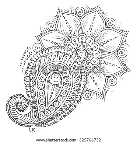 Pattern For Coloring Book Pages Kids And AdultsVector Abstract Floral