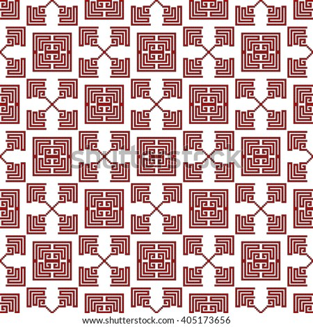 pattern for embroidery seamless. Pixel Mosaic. Red, color. Vector Image. For textile and light industry, design, printing, presentations.