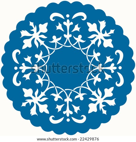Pattern for mat or lace - stock vector