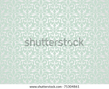 Pattern from decorative elements in a grey-green tonality - stock vector
