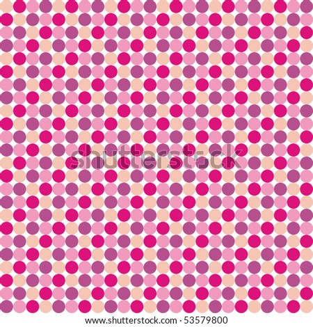 Pattern from pink violet circles - stock vector