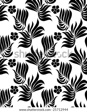 Pattern from the flowers of peach and leaves - stock vector