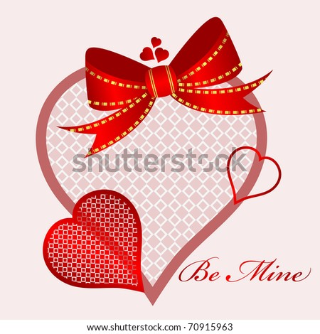 pattern hearts - stock vector
