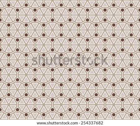 Pattern I Circle in Triangle B - stock vector
