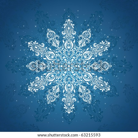 Pattern in a shape of a snowflake. - stock vector