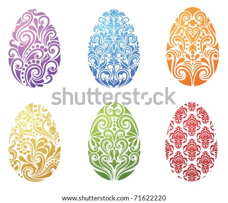 Pattern in a shape of an egg. - stock vector