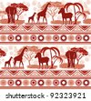 Pattern in the African style - stock photo