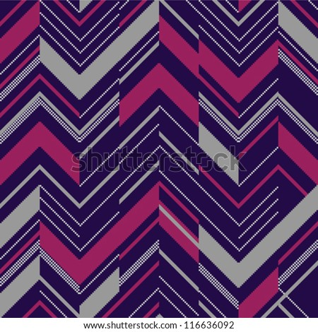 Pattern in zigzag colored - stock vector
