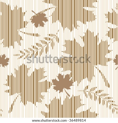 pattern leaves - stock vector