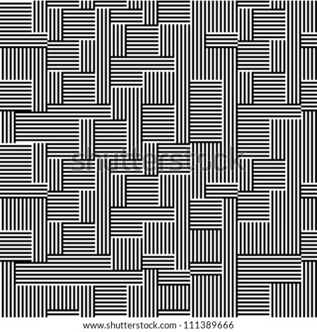 Pattern - line black and white - stock vector