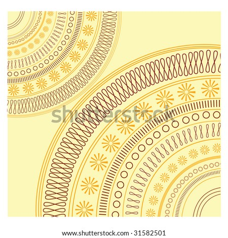 Pattern. Look  through my portfolio to find more images of the same series - stock vector