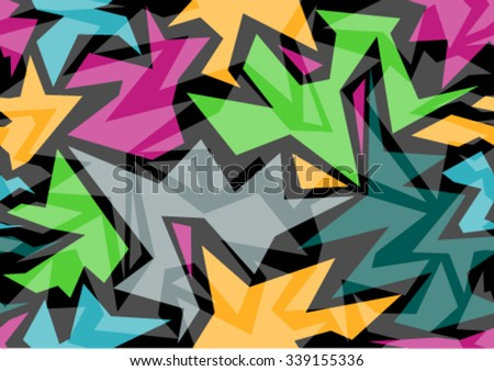 Pattern Modern colorful  background with designed abstraction. Vector illustration colored geometric texture seamless pattern easy editable for Your design. - stock vector