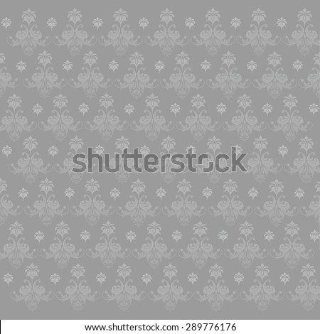 pattern. monogram gray.floral ornament. vector - stock vector