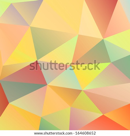 Pattern of geometric shapes. Colorful mosaic banner. Geometric retro background with place for your text. Retro triangle background.