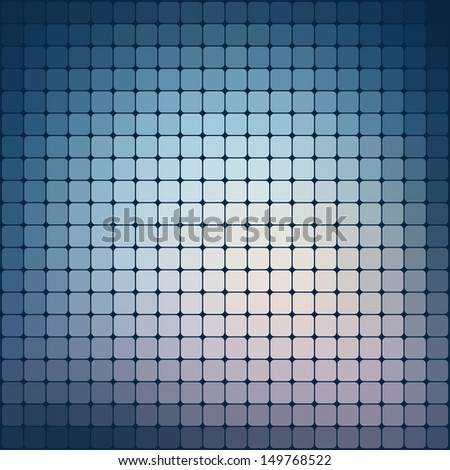 Pattern of geometric shapes. Flow of blue spectrum effect.