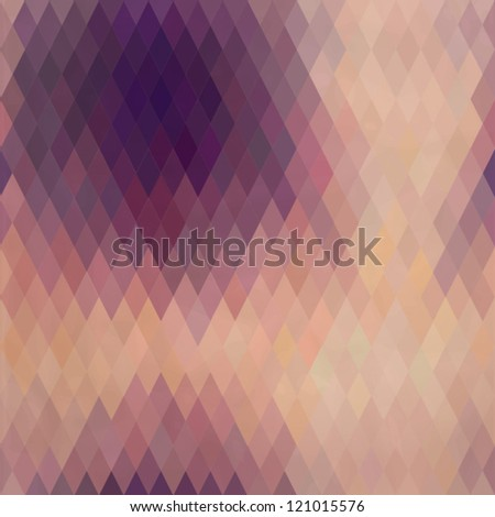 Pattern of geometric shapes, rhombic.Texture with flow of spectrum effect.Geometric background. Copy that  square to the side, the resulting image can be repeated, or tiled, without visible seams. - stock vector