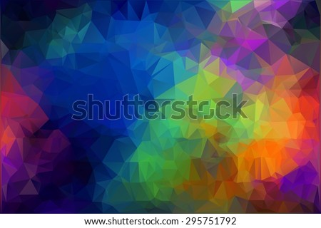 Pattern of geometric shapes. Vector illustration - stock vector. Polygonal abstract background. Texture with flow of spectrum. - stock vector