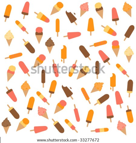 PATTERN OF ICE CREAM BAR LOLLY FOR SUMMER SEASON. Editable repeatable vector illustration bar. - stock vector