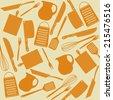 Pattern of kitchen tools, vector illustration - stock vector