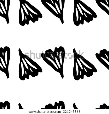 Pattern of leaves of ginkgo silhouettes for women's clothing design