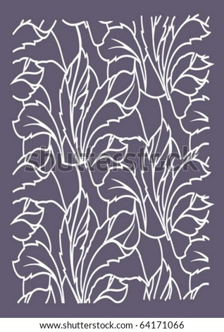 pattern of leaves on the background feoletovom - stock vector