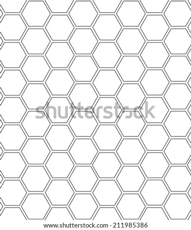 pattern of monol honeycomb seamless pattern, vector,Endless texture can be used for wallpaper, pattern fills, web page background,surface textures.