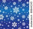 pattern of snowflakes/snow/stars - stock vector