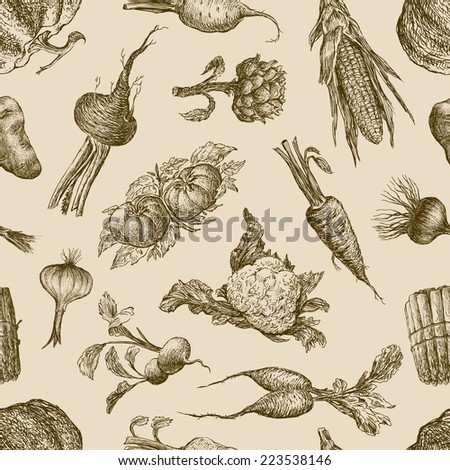 pattern of the vegetables - stock vector