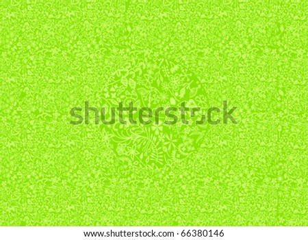 Pattern on a green background - stock vector
