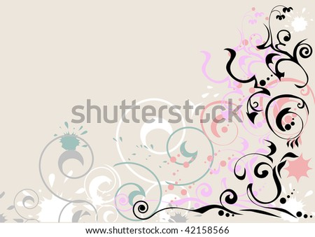 Pattern on the sand - stock vector