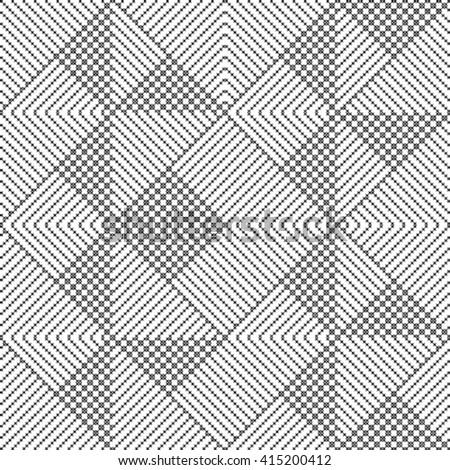 Pattern optical illusion - stock vector