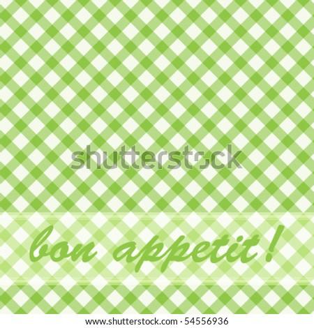 Pattern picnic green. - stock vector
