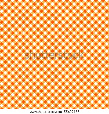 Pattern picnic orange vector - stock vector