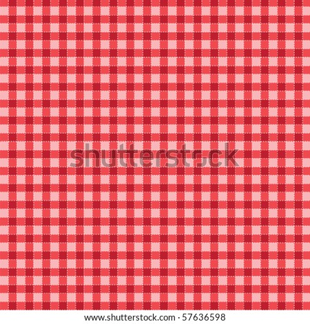 Pattern picnic tablecloth vector - stock vector