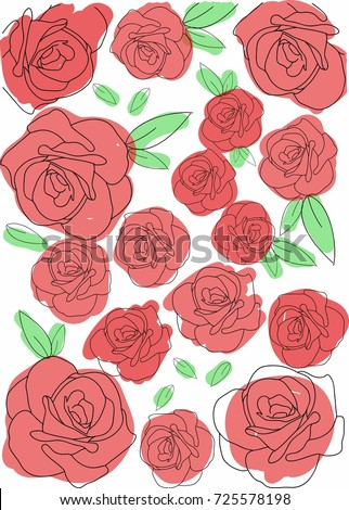 Pattern Red Rose Wallpaper Background Texture