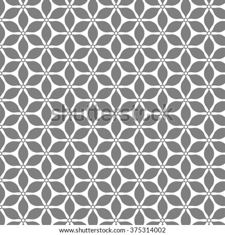 pattern Repeating geometric abstract flower - stock vector
