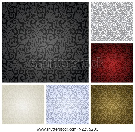 Pattern seamless, set vector - stock vector