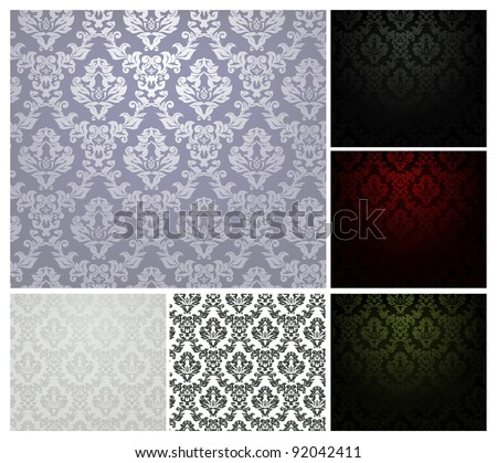 Pattern seamless, vector set - stock vector