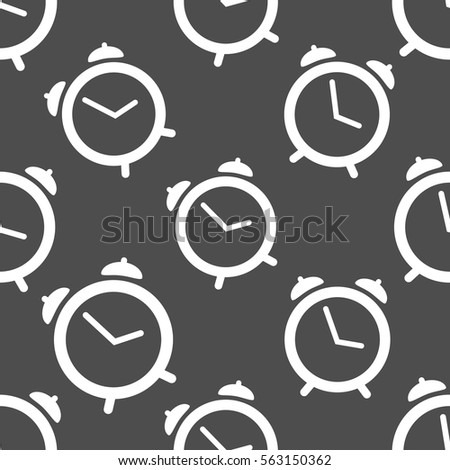 Pattern Seamless With Alarm Clock Wallpaper White Timer Vector Illustration