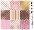 pattern set - stock vector