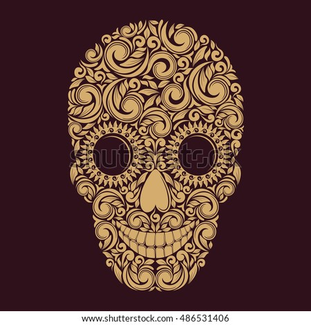 Pattern skull. Vector illustration