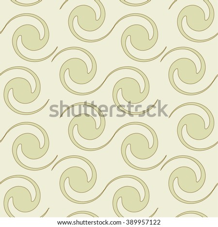 Pattern spiral, circle, seamless vector background. - stock vector