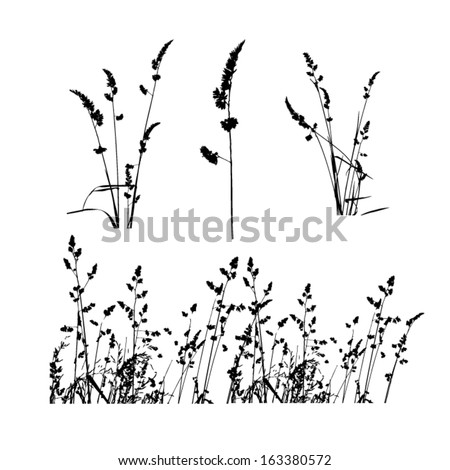 Pattern strip of grass. Vector - stock vector