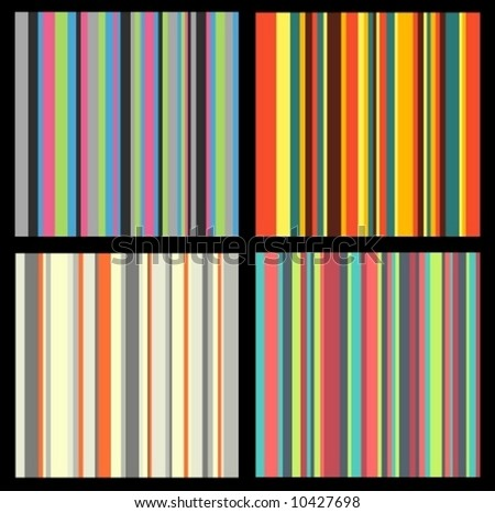 pattern stripes vector background abstract design retro line colors editable element - stock vector