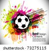 pattern theme soccer background with circles and splash, Editable Illustration - stock vector