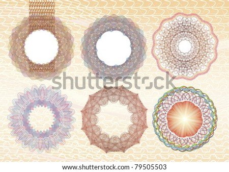 Pattern vector elements for currency, certificate or diplomas. EPS8. - stock vector