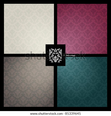 Pattern wallpaper background - stock vector