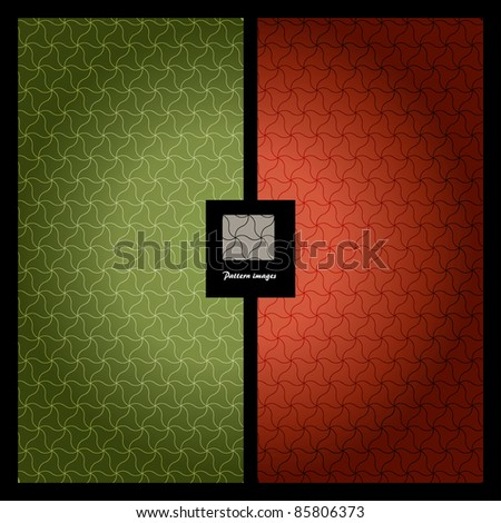 Pattern wallpaper background. Green + Red color. - stock vector