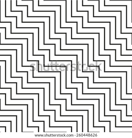 Pattern with black and white line  - stock vector