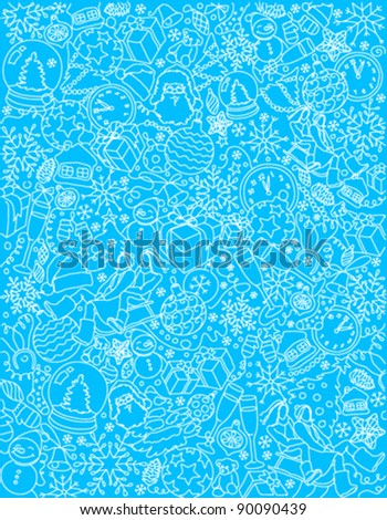 pattern with christmas elements - stock vector
